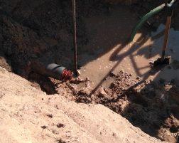 Nietypowe znalezisko w sieci wodociągowej.